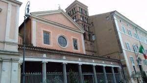La facciata di san Lorenzo in Lucina
