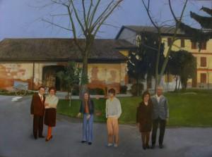 Francesco Lauretta -Ritratto di famiglia vicentina vivi e morti