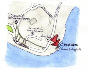 mappa disegnata da Livio Squeo